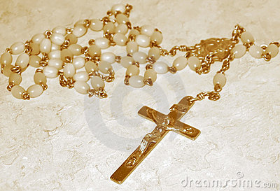 Rosary Beads, sepia