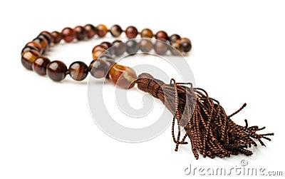 Rosary of carnelian beads