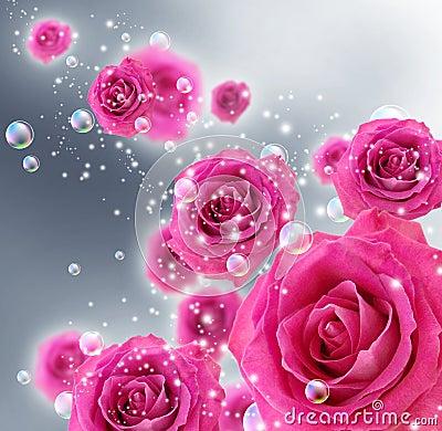 Rosas e bolhas