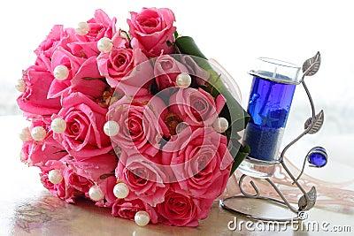 Rosas e vela