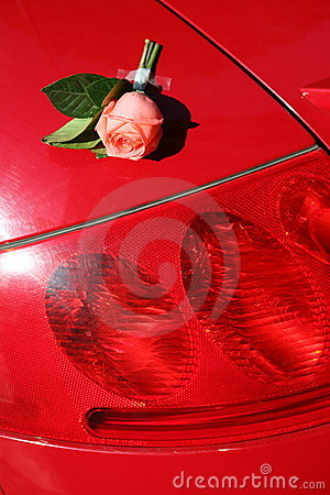 Free Rose And Sports Car Royalty Free Stock Images - 6696439