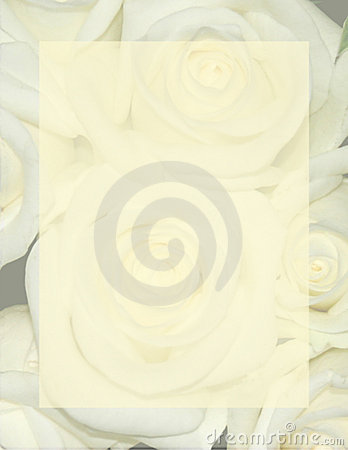 Rose Background Stationery