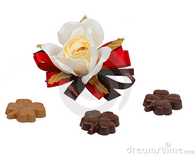 Rose and clover chocolates