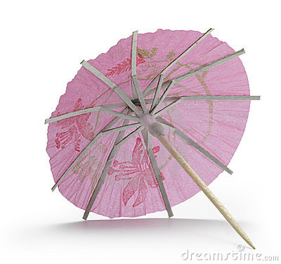 Rose cocktail umbrella