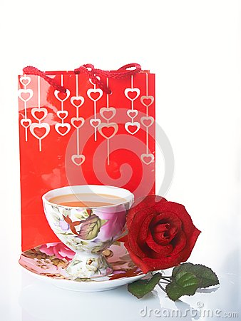 Rose and cup