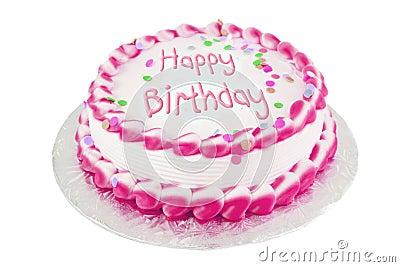 Rose de gâteau d anniversaire