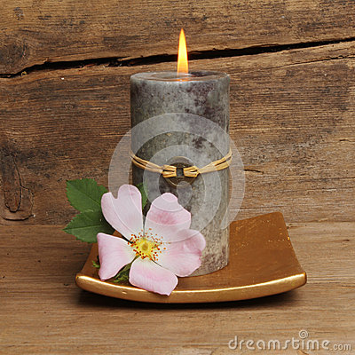 Rose and Feng Shui candle
