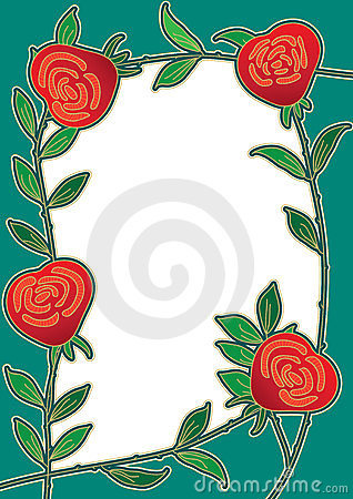 Rose Flower Frame Card_eps