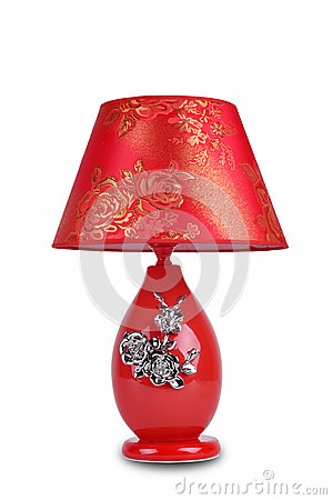 Free Rose For Lover Christmas Gift Keepsake The Wedding Gift Valentine Day Gift Chinese Style Ceramic Table Lamp Royalty Free Stock Photos - 30994998
