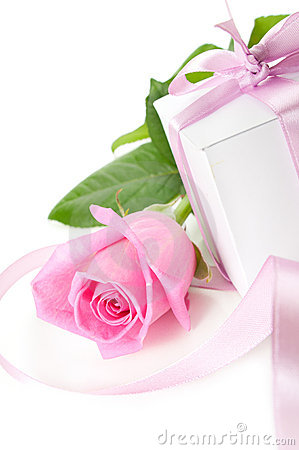 Rose with gift-box