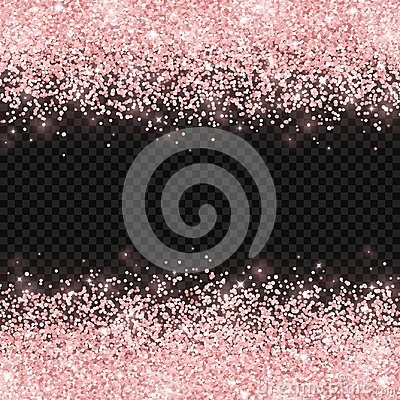 Free Rose Gold Glitter On Dark Transparent Background. Vector Royalty Free Stock Image - 114545916