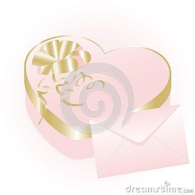 Rose heart gift box
