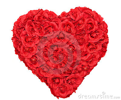 Rose Heart Shape Floral