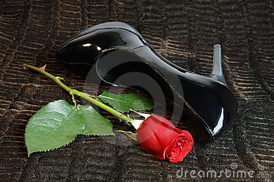 Rose and high heel