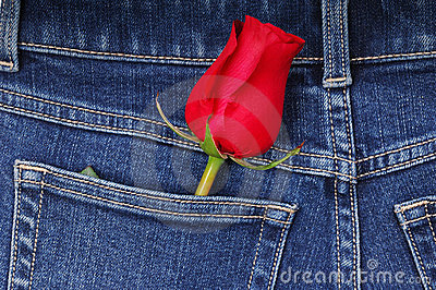 Rose and jeans