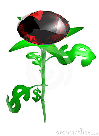 Rose from leaves in the form dollar