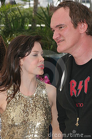 Free Rose McGowan And Quentin Tarantino Royalty Free Stock Photos - 13765508