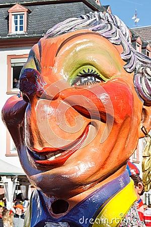 Rose Monday Parade (Rosenmontagszug) 2011 in Mainz Editorial Stock Photo
