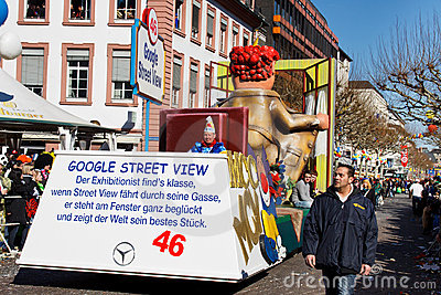 Rose Monday Parade (Rosenmontagszug) 2011 in Mainz Editorial Image