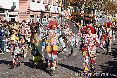 Rose Monday Parade (Rosenmontagszug) 2011 in Mainz Editorial Image