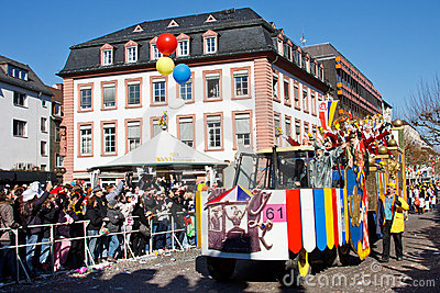Rose Monday Parade (Rosenmontagszug) 2011 in Mainz Editorial Stock Image