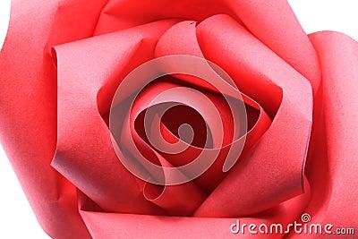 Rose Origami Paper Macro