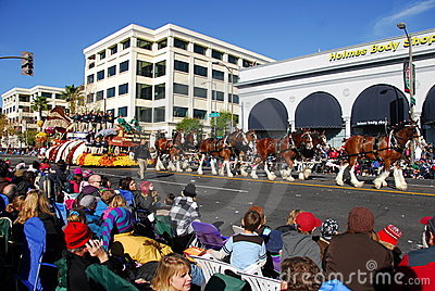 Rose Parade Pasadena 2011 Editorial Stock Photo