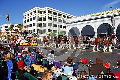 Rose Parade Pasadena 2011 Editorial Stock Photo