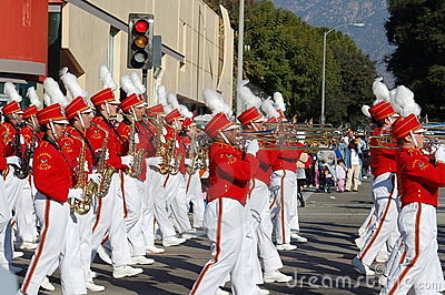 Rose Parade Pasadena marching band Editorial Image