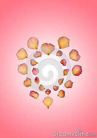 Free Rose Petal Heart Stock Photo - 5430020
