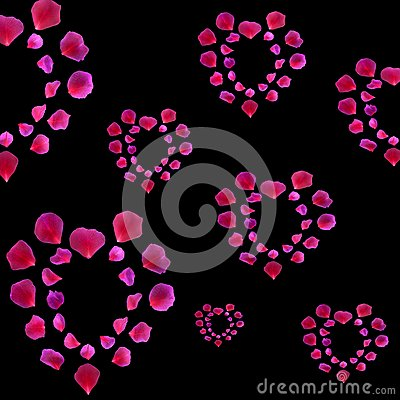 Rose Petal Hearts Royalty Free Stock Photos - Image: 7770538