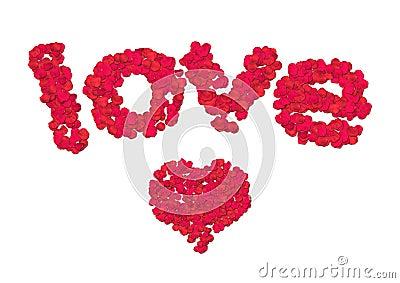 Rose petal love