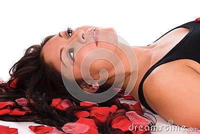 Rose petal woman.