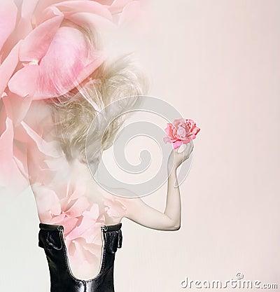 In rose petals