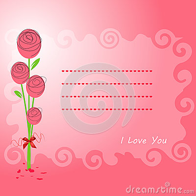 Rose  on pink background texture