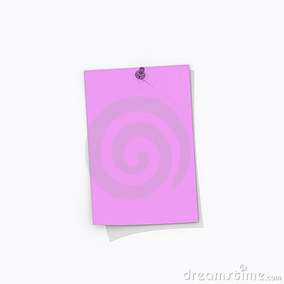 Rose pink note