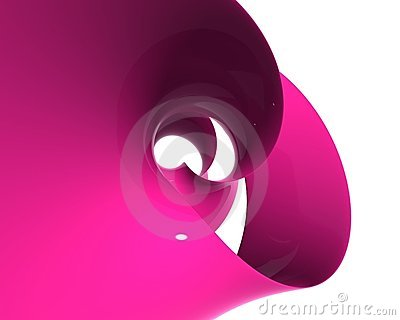 Rose plastic spiral - wave polishes and reflecting - desktop high resolution