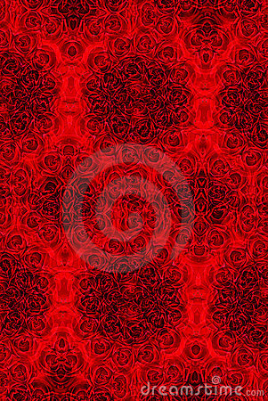 Image of roses red kaleidoscope background wallpaper pattern