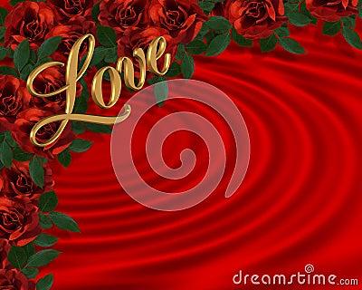Trendafila Rose-rosse-romantiche-del-bordo-del-biglietto-di-s-valentino-thumb18045457