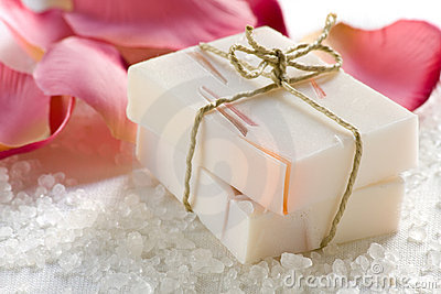 Rose scented soap