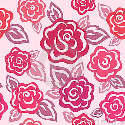 Free Rose Seamless Pattern Royalty Free Stock Images - 10613859