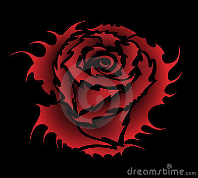 Rose tattoo style