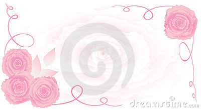 Rose vec ornament background