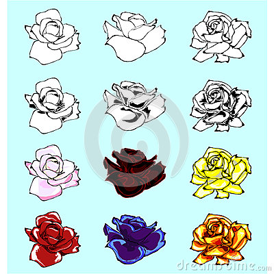 Rose Vector Set