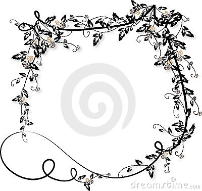 Free Vector Stocks on Rose Vines Frame 2 Royalty Free Stock Images   Image  10763099