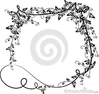 Rose vines frame-2