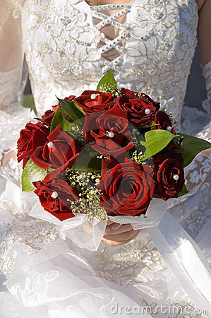 Rose in wedding bouquet