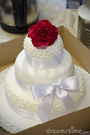 Rose on a wedding cake