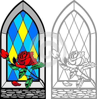 Free Rose Window Royalty Free Stock Images - 61357289