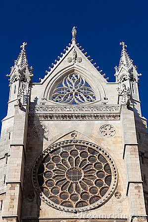 Rose window in the cathedral of Leon